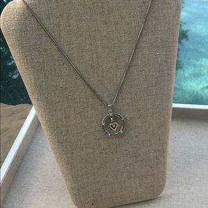 Brighton Heart in a Circle Necklace